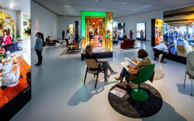 Textielframes met LED met bijzondere foto's van Thijs Wolzak in het Design Museum Den Bosch